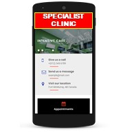 specialist clinic bookings mobile app
